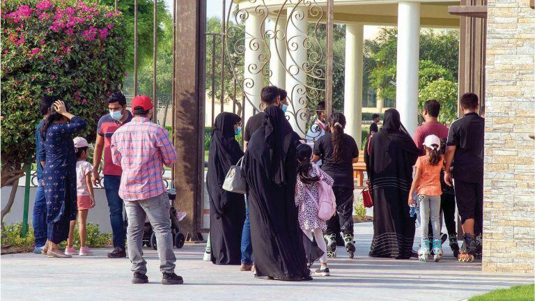 Photo of 2300 زائر لمنتزه الخور في أول وثاني أيام العيد