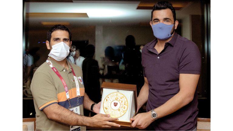 Photo of الشيخ جوعان يلتقي رئيس اللجنة الأولمبية الكويتية