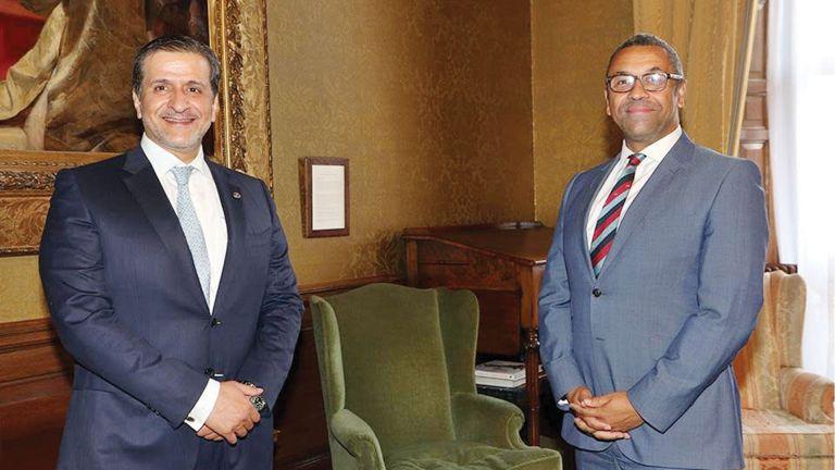 Photo of وزير الدولة البريطاني يجتمع مع سفيرنا