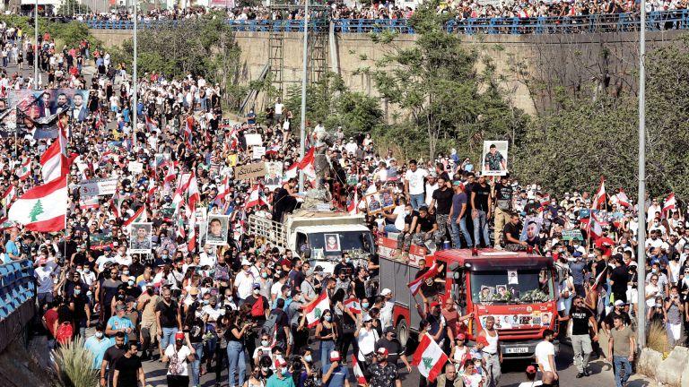 Photo of لبنان: مظاهرات غاضبة ومواجهات عنيفة مع الأمن