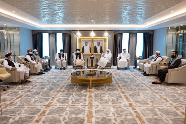 Photo of نائب رئيس مجلس الوزراء وزير الخارجية يجتمع مع رئيس المكتب السياسي لحركة طالبان