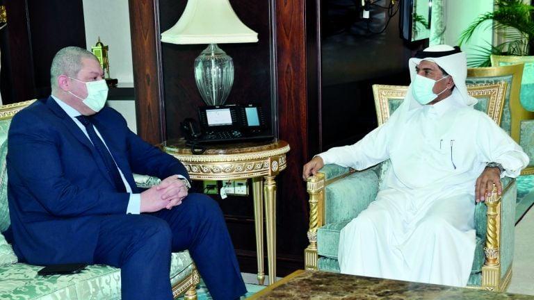 Photo of الأمين العام لوزارة الخارجية يجتمع مع القائم بالأعمال المصري