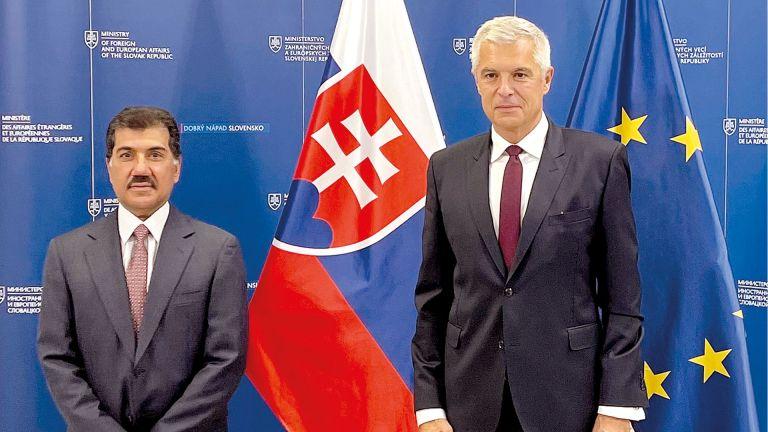 Photo of رسالة من نائب رئيس الوزراء لوزير خارجية سلوفاكيا
