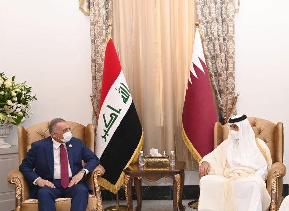 Photo of صاحب السمو يلتقي رئيس الوزراء العراقي