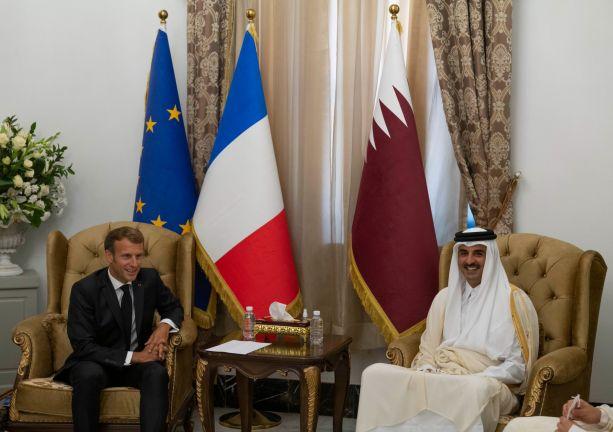 Photo of صاحب السمو يلتقي بالرئيس الفرنسي