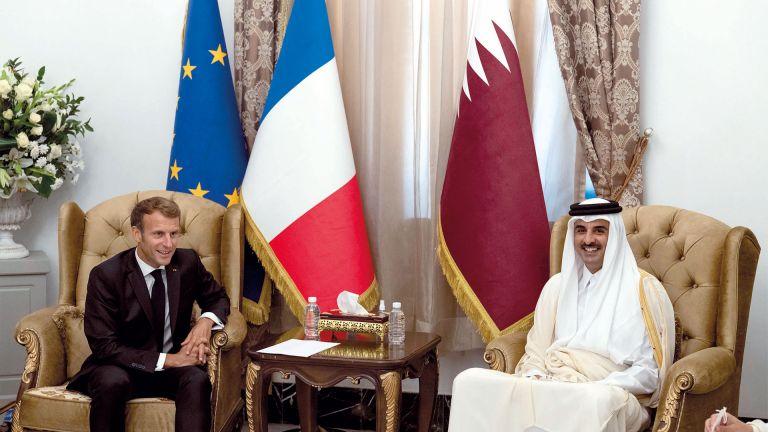 Photo of صاحب السمو والرئيس الفرنسي يبحثان التطورات الأفغانية