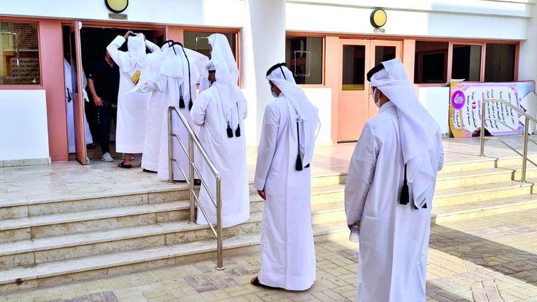 Photo of 80 % نسبة حضور الطلاب في أول أيام الدراسة