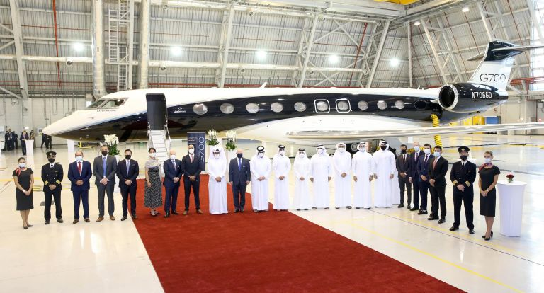 Photo of وصول أول طائرة من طراز جلفستريم G700 إلى دولة قطر