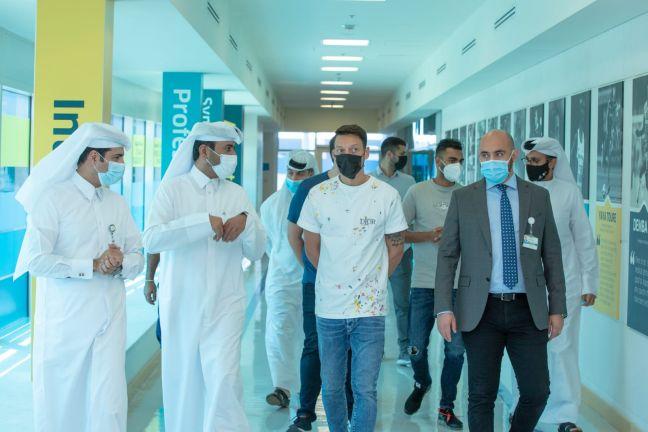 Photo of النجم الالماني مسعود أوزيل يبدي إعجابه بالمستشفى العالمي سبيتار