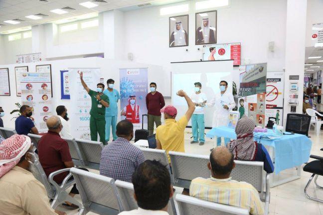 Photo of الهلال الأحمر القطري ينشر الوعي الصحي بين العمال