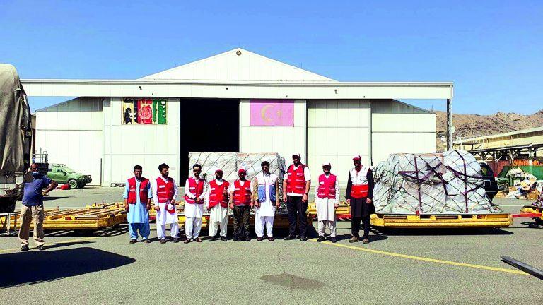 Photo of 14 طنًا موادّ إغاثية قطرية عاجلة لأفغانستان