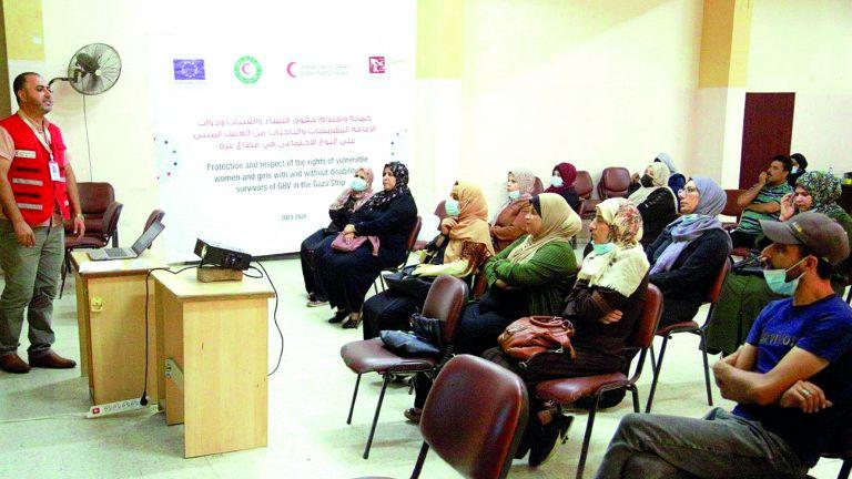 Photo of الهلال الأحمر يدعم حقوق النساء وذوات الإعاقة في غزة