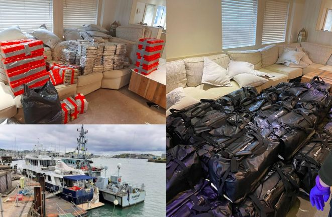 Photo of بريطانيا: مصادرة 2 طن من الكوكايين بقيمة 221.3 مليون دولار على متن يخت فاخر