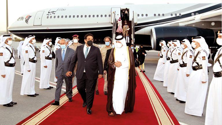 Photo of رئيس المجلس الرئاسي الليبي يصل الدوحة