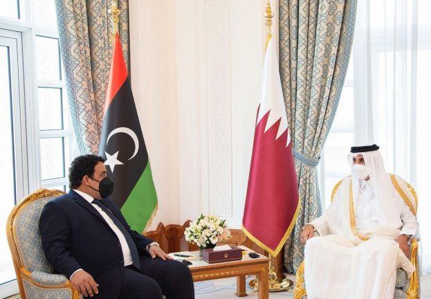 Photo of صاحب السمو يعقد جلسة مباحثات مع رئيس المجلس الرئاسي الليبي