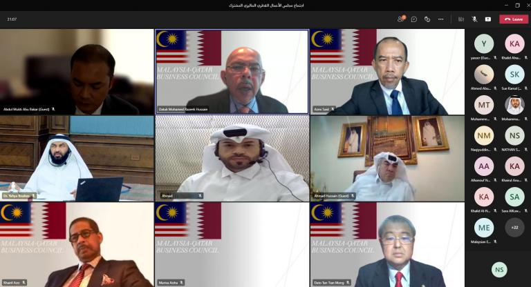 Photo of انعقاد اجتماع مجلس الأعمال القطري – الماليزي