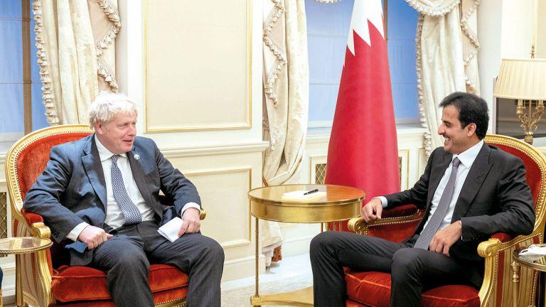 Photo of صاحب السمو ورئيس الوزراء البريطاني يبحثان العلاقات