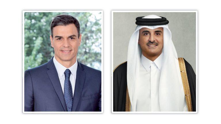 Photo of صاحب السمو يؤكد تضامن قطر مع إسبانيا