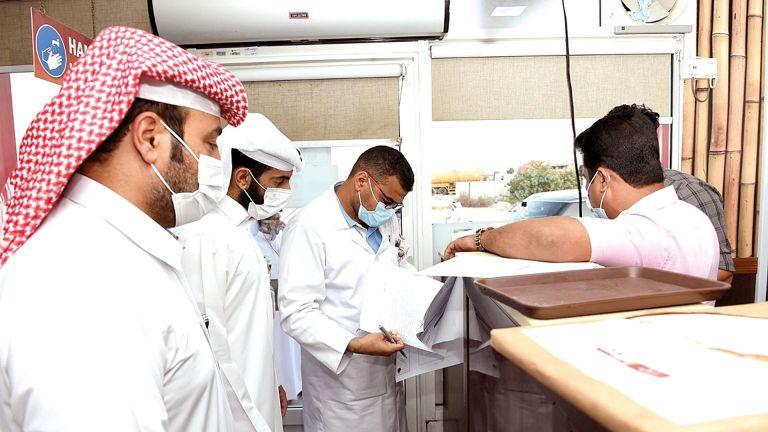 Photo of حملة تفتيشية مشتركة على المنطقة الصناعية بالخور