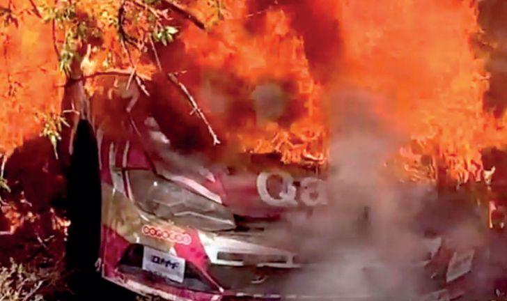 Photo of حريق يلتهم سيارة العطية في قبرص