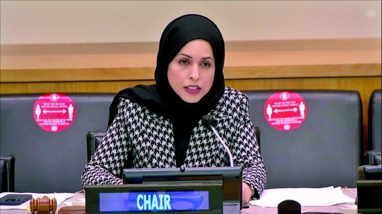 Photo of الشيخة علياء ترأس مناقشات اللجنة القانونية بالأمم المتحدة