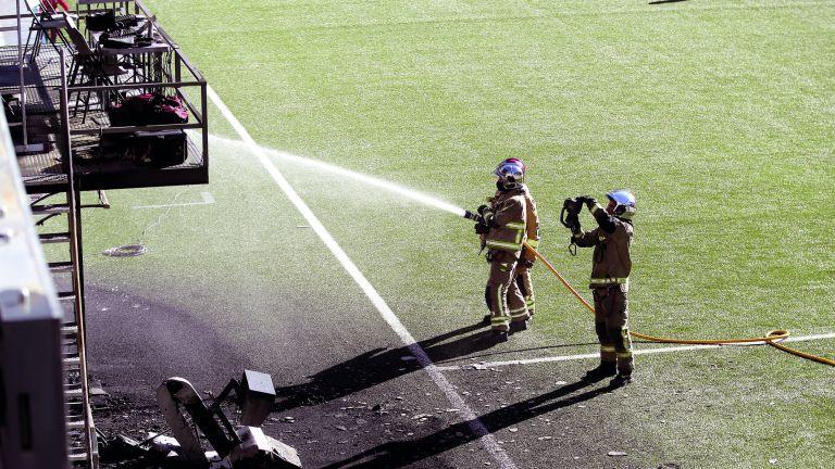 Photo of اندلاع حريق في ملعب أندورا الوطني