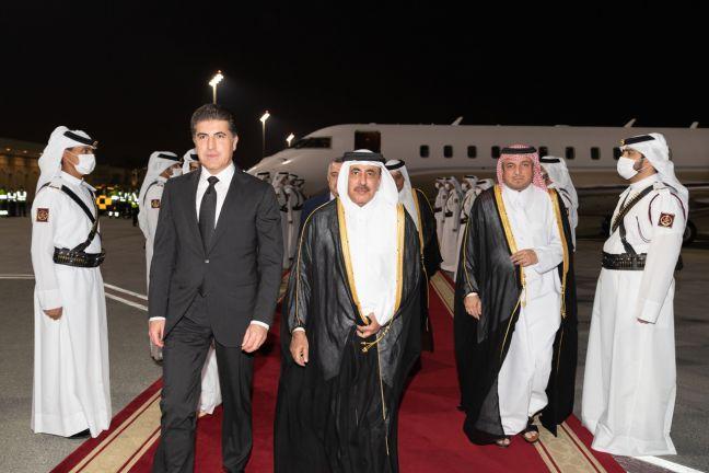 Photo of رئيس إقليم كردستان العراق يصل الدوحة