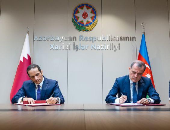 Photo of نائب رئيس مجلس الوزراء وزير الخارجية يجتمع مع وزير خارجية أذربيجان