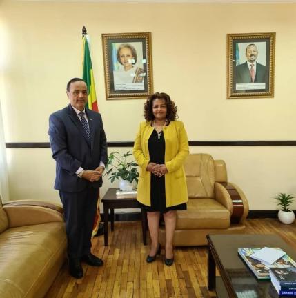 Photo of وزيرة الدولة بالخارجية الإثيوبية تجتمع مع سفيرنا