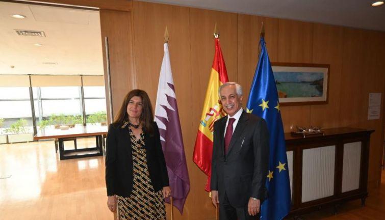 Photo of وزير الدولة للشؤون الخارجية يجتمع مع نظيرته الإسبانية