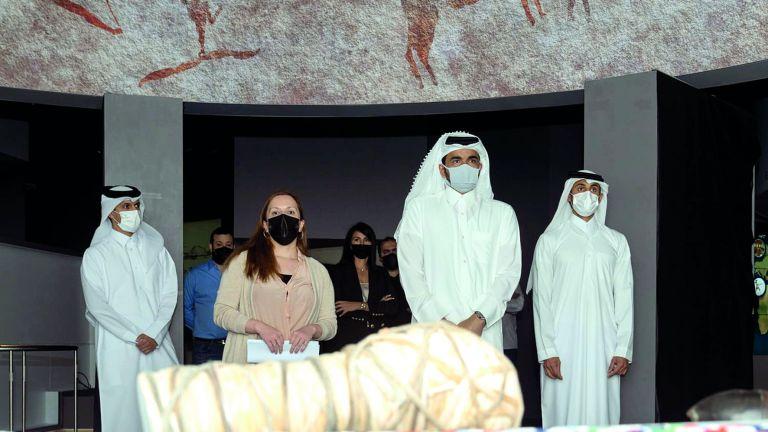 Photo of الشيخ جوعان بن حمد يزور المتحف الأولمبي والرياضي