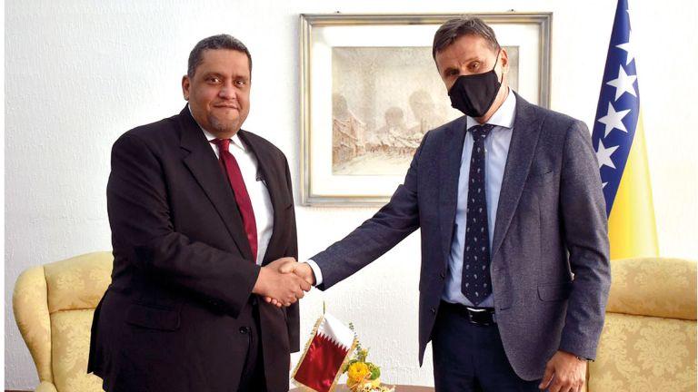 Photo of رئيس مجلس وزراء فيدرالية البوسنة والهرسك يجتمع مع سفيرنا