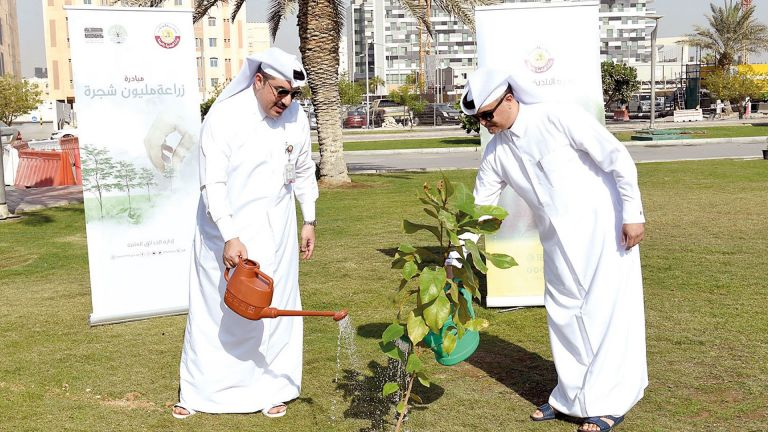 Photo of بنك الدوحة يشارك في مبادرة زراعة مليون شجرة
